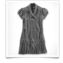 Girls' Shawl Collar Knitted Tunic