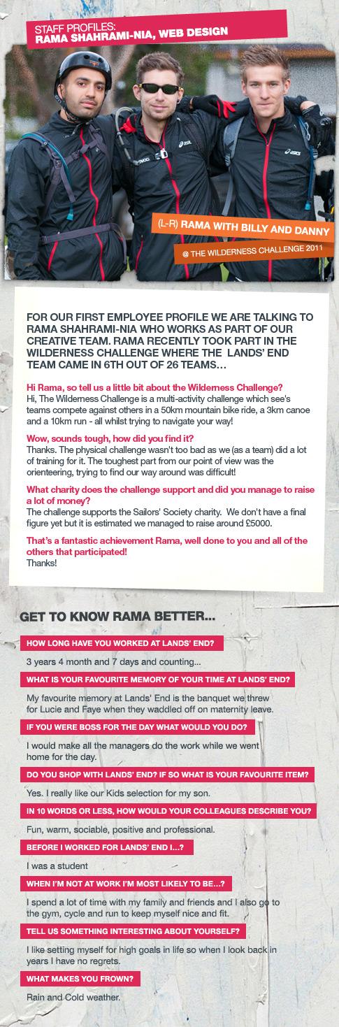 Lands' End Staff Profile - Rama Shahrami-Nia