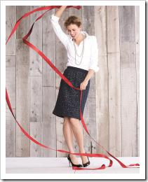 Plush Sequin Skirt