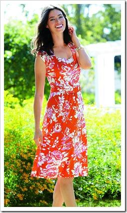 Patterned Square Neck Dress