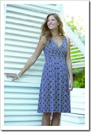 Patterned Jersey Crossover Dress