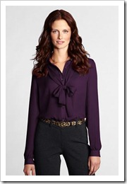 Georgette Bow Blouse