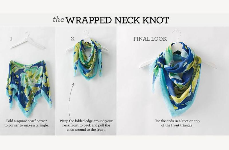 The wrapped neck knot